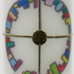 Taufkerzen Motive - Eine Nahaufnahme einer Uhr - Produkt